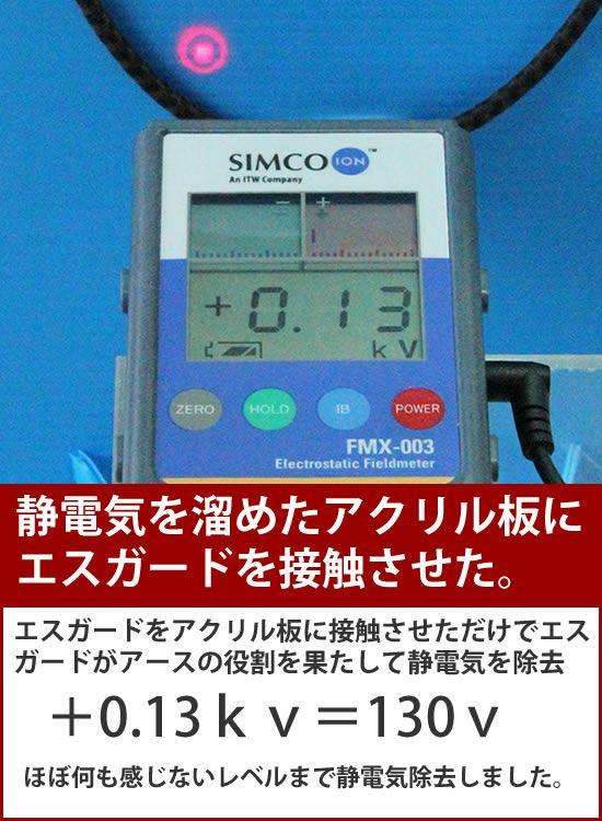 静電気除去ブレスレット コランコラン エスガード・Fita(フィタ)ブレスレット 放電テスト02