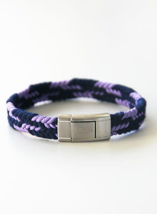 静電気除去ブレスレット エスガードFita・Wide(ワイド) 紺×紫